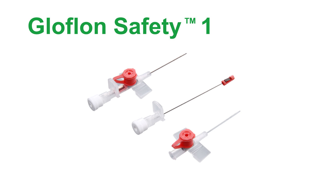 I.V. Catheter with Injection valve and wings (with Safety Advantage)